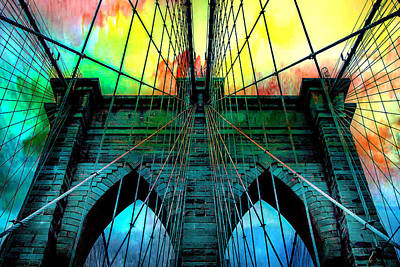 New York Digital Art - Rainbow Ceiling  by Az Jackson