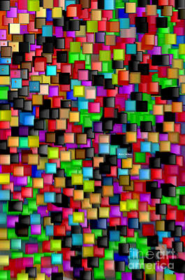 Digital Art - Rainbow Checkers 2 by Rafael Salazar