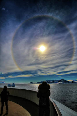 Photograph - Rainbow Circling The Sun by John Haldane