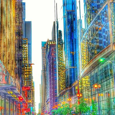 Art Print featuring the photograph Rainbow Cityscape by Marianne Dow