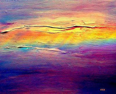 Painting - Rainbow Clouds Full Spectrum -dedicated                     by VIVA Anderson