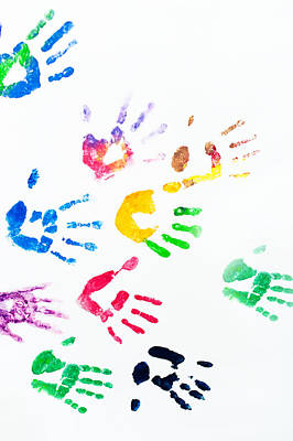 Mannequin Dresses Rights Managed Images - Rainbow Color Arms Prints Royalty-Free Image by Jenny Rainbow