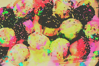 Rainbow Color Cupcakes Art Print