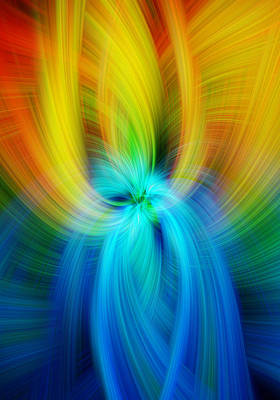 Digital Art - Rainbow Colored Abstract. Concept Humane Idealism  by Jenny Rainbow