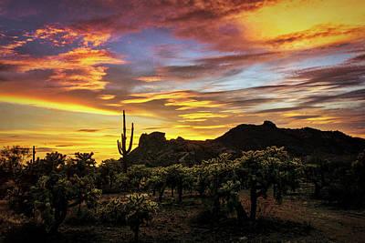 Photograph - Rainbow Colored Southwest Skies  by Saija Lehtonen
