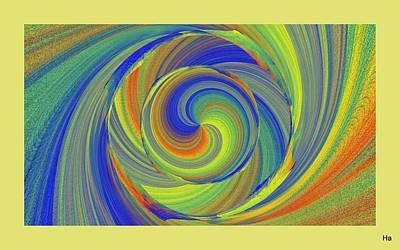 Digital Art - Rainbow Colors by Halina Nechyporuk