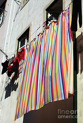 Photograph - Rainbow Colors In Lisbon by John Rizzuto