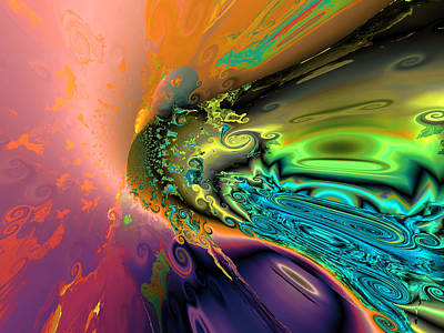 Algorithmic Digital Art - Rainbow Comet by Claude McCoy