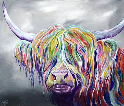 Rainbow Coo Original by Aaron De la Haye