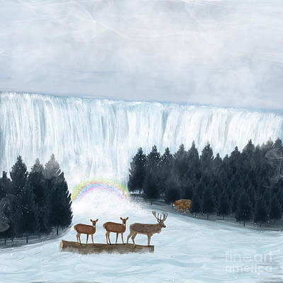 Stag Painting - Rainbow Creek by Bri Buckley
