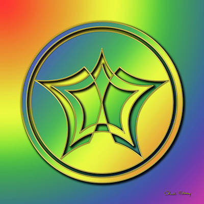 Digital Art - Rainbow Design 1 by Chuck Staley