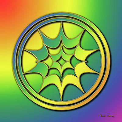 Art Print featuring the digital art Rainbow Design 5 by Chuck Staley