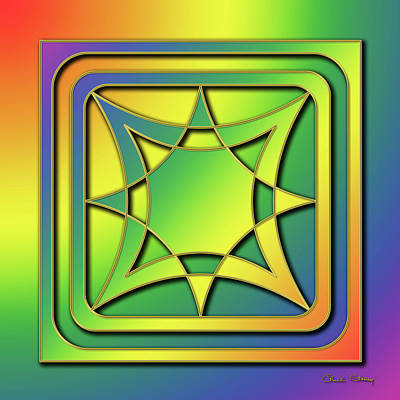 Art Print featuring the digital art Rainbow Design 6 by Chuck Staley