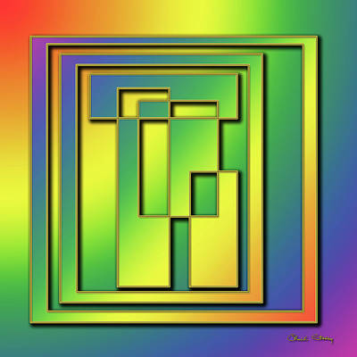 Digital Art - Rainbow Design 7 by Chuck Staley