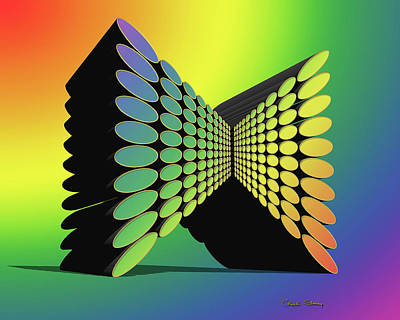 Digital Art - Rainbow Design 9 3 D by Chuck Staley
