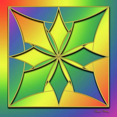 Digital Art - Rainbow Design 8 by Chuck Staley