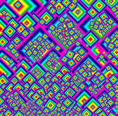 Sense Of Movement Digital Art - Rainbow Diamond Abstract by Donna Haggerty