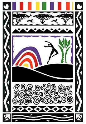 Painting - Rainbow Dream by Phil Dynan