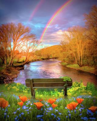 Photograph - Rainbow Dreams Impressionism by Debra and Dave Vanderlaan