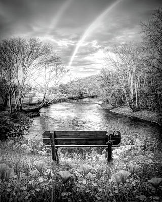 Photograph - Rainbow Dreams In Painterly Black And White by Debra and Dave Vanderlaan