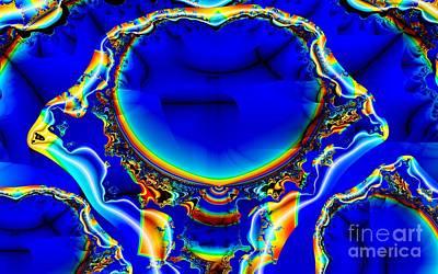 Digital Art - Rainbow Edged Blae by Ron Bissett
