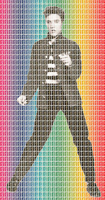 Rainbow Elvis Original by Gary Hogben