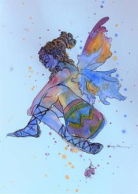 Painting - Rainbow Fairy by Mindy Newman