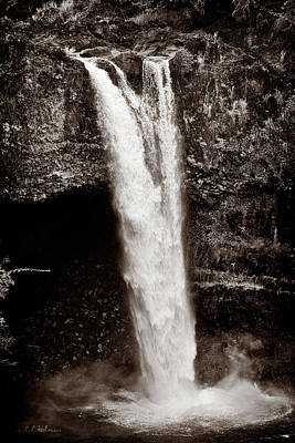Photograph - Rainbow Falls 2 - Sepia by Christopher Holmes