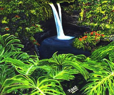 Rainbow Falls #83 Art Print by Donald k Hall