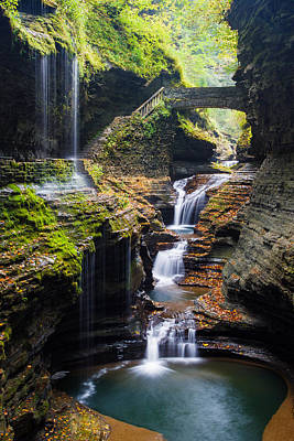 Seneca Lake Photograph - Rainbow Falls by Adam Pender