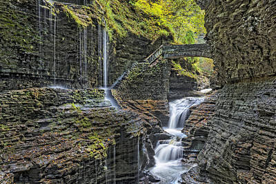 Rainbow Falls At Watkins Glen State Park Art Print