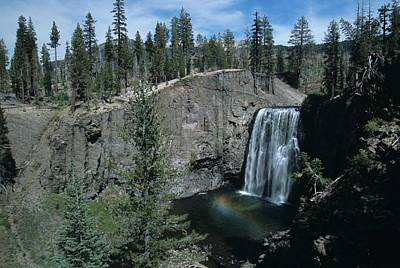 Rainbow Falls California Art Print