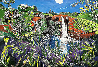 Painting - Rainbow Falls by Fay Biegun - Printscapes