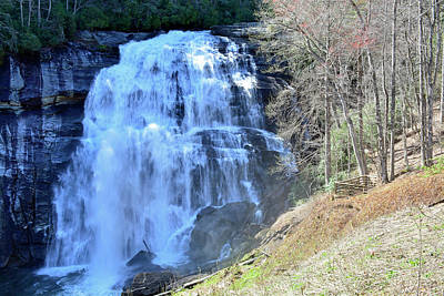 Rainbow Falls In Gorges State Park Nc 02 Art Print by Bruce Gourley