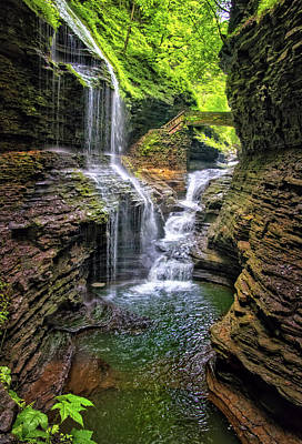 Photograph - Rainbow Falls In Watkins Glen by Carolyn Derstine