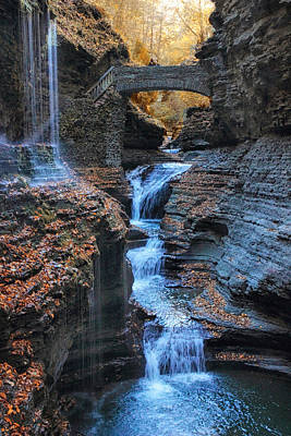Finger Lakes Photograph - Rainbow Falls by Jessica Jenney