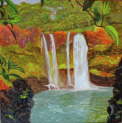 Painting - Rainbow Falls by Thu Nguyen