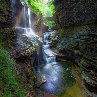 Photograph - Rainbow Falls Watkins Glen by Bill Wakeley