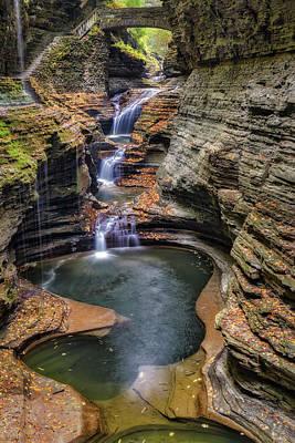 Photograph - Rainbow Falls Watkins Glen State Park by Susan Candelario