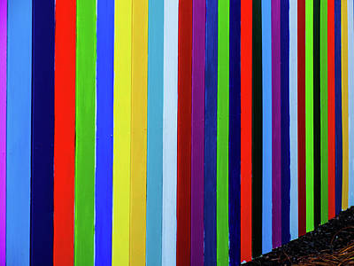 Photograph - Rainbow Fence by Randy Sylvia