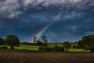 Rainbow Fields Art Print by Martin Newman