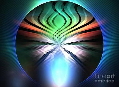 Chakra Rainbow Digital Art - Rainbow Firefly by Kim Sy Ok