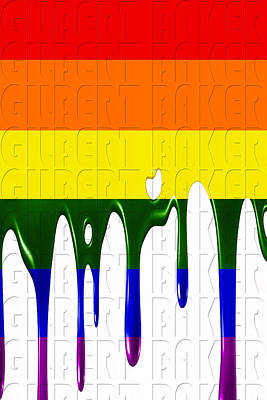 Photograph - Rainbow Flag 3 by Andrew Fare
