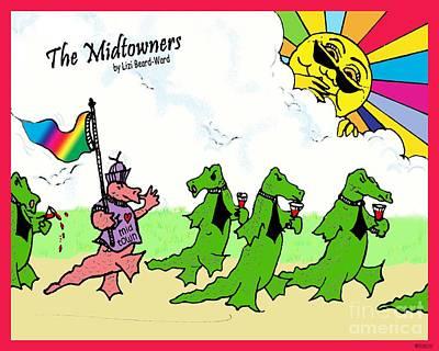 Drawing - Rainbow Flag Tee Shirt by Lizi Beard-Ward