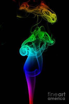 Rainbow Flame Print by Alexander Butler