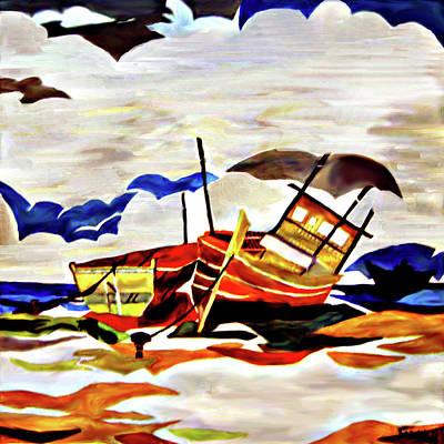 Painting - Rainbow Fleet by Farah Faizal