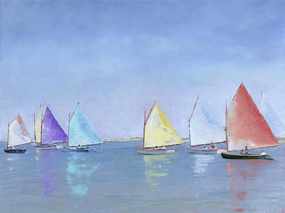 Painting - Rainbow Fleet by Trina Teele