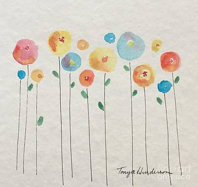Painting - Rainbow Floral by Tonya Henderson