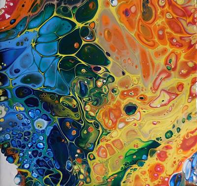 Mixed Media - Rainbow Flow by Alexandra Class