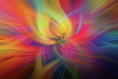 Photograph - Rainbow Flower Of Passion by Jenny Rainbow